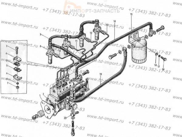 Топливный насос и топливная система в сборе 495BPG