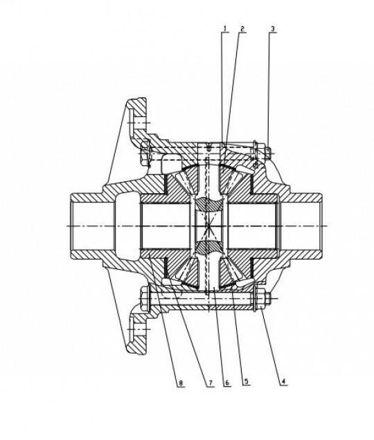Дифференциал редуктора CDM833