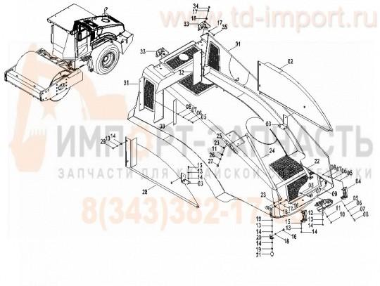 Капот двигателя CLG614H