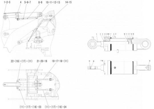 Гидроцилиндр наклона SDLG LG933L