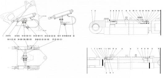 Гидроцилиндр подъема SDLG LG933L