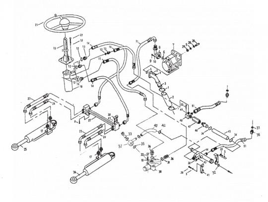 Гидравлическая система рулевого управления XCMG LW500F
