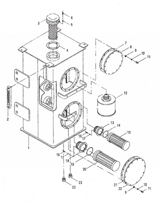 Гидравлический масляный бак XCMG LW500F