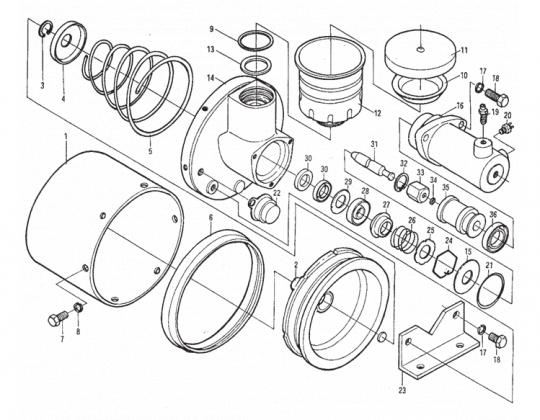 Главный тормозной цилиндр ПГУ XCMG LW500F