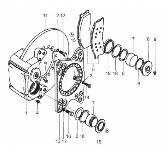 Дисковый тормоз 72006036 XCMG LW500F